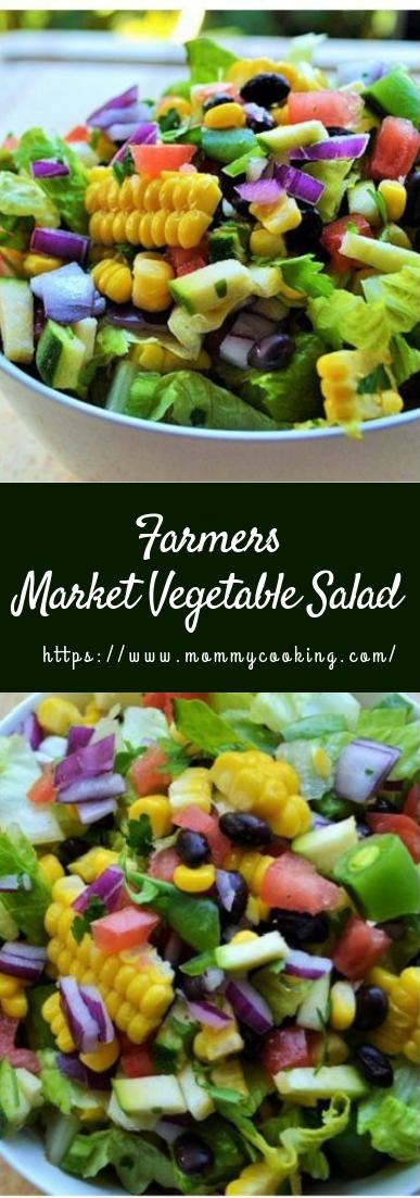 Farmers Market Vegetable Salad #vegetarian #recipe