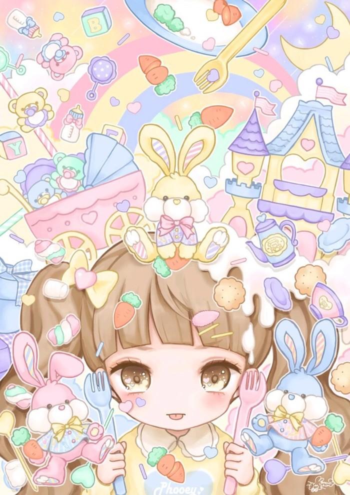anime girl wallpaper border - photo #29