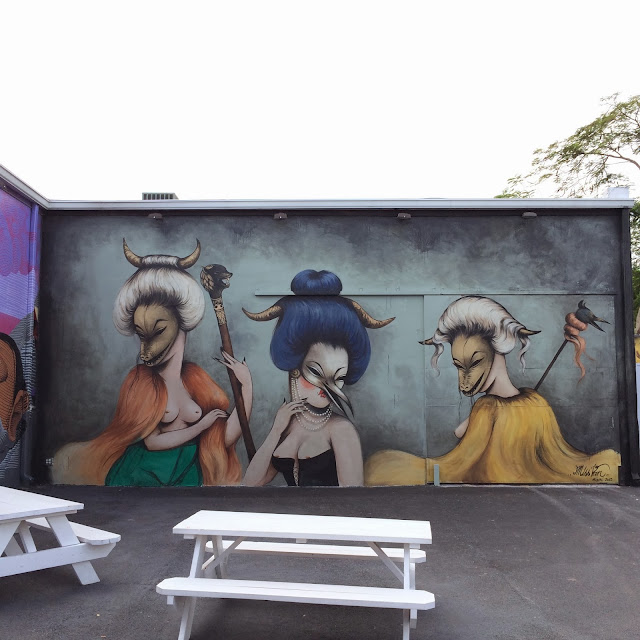 Street Art By French Artist Miss Van At The Wynwood Walls In Miami, USA. 1