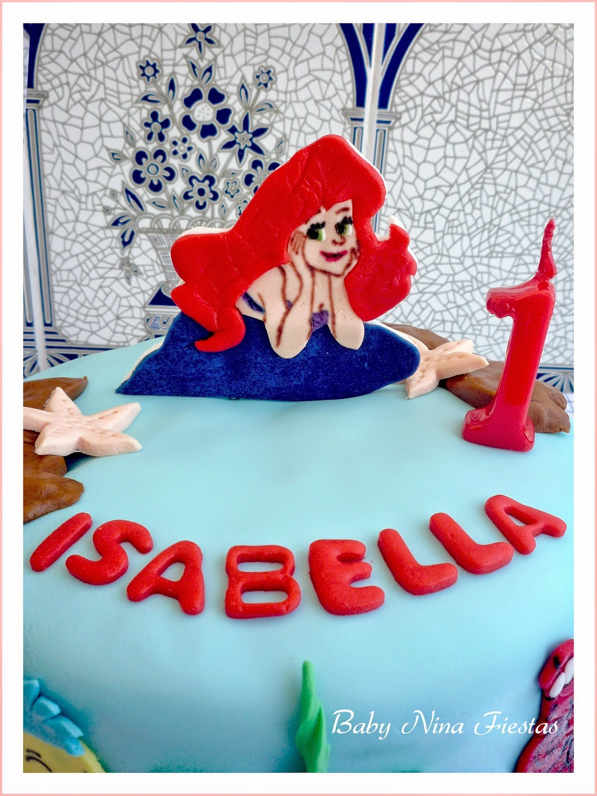 Tarta sirenita little mermaid