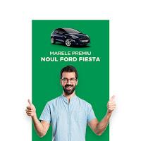 Castiga noul Ford Fiesta sau 3 premii a cate 5.000 de lei provident