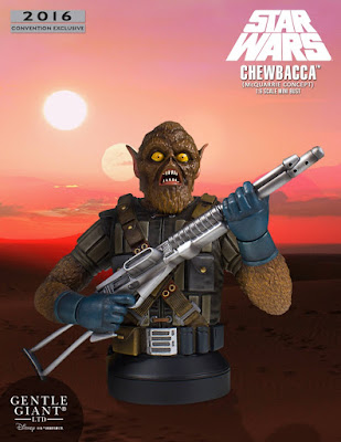 "San Diego Comic-Con 2016 Exclusive Star Wars ""McQuarrie Concept"" Chewbacca Mini Bust by Gentle Giant"