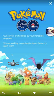 Cara Mengatasi Pokemon Go Keluar Muncul Tulisan Our servers are humbled by your incredible response,we are working to resolve the issue.please try again soon