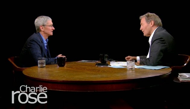 Apple CEO Tim Cooks speaks to Charlie Rose after iOS launches!