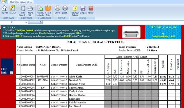 Aplikasi Nilai Ujian Sekolah Sd 2014 Nilai Un Smp 2014 Newhairstylesformen2014 Com Aplikasi