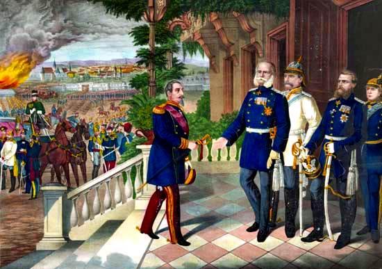 Rendición de Napoleón III después de la batalla de Sedán