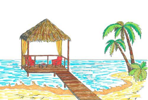 ausmalb cher f r erwachsene landschaften strand und meer zum ausmalen und relaxen. Black Bedroom Furniture Sets. Home Design Ideas