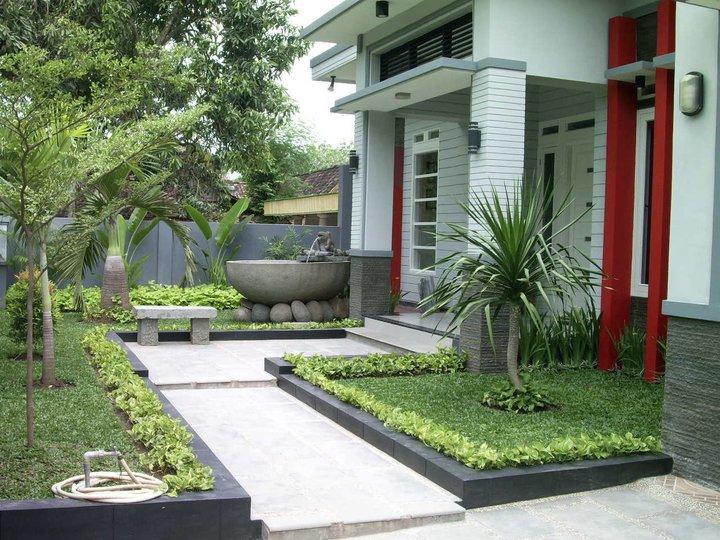 65 Desain Taman Depan Rumah Mungil Minimalis
