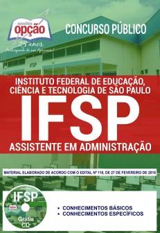 Apostila IFSP 2018 Assistente em Administração
