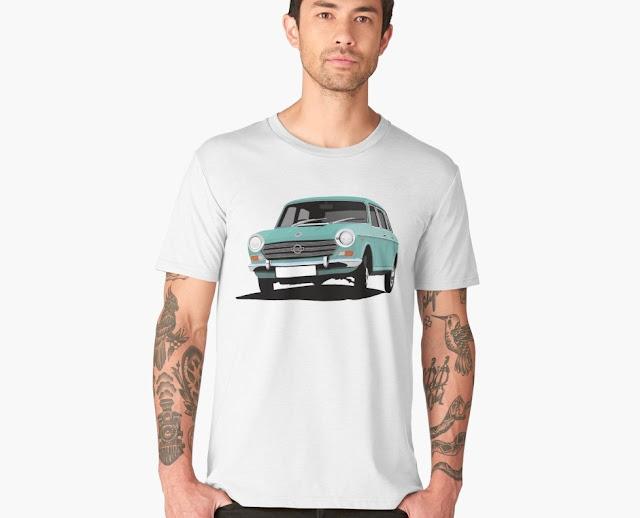 Morris 1800 car T-shirt turquoise