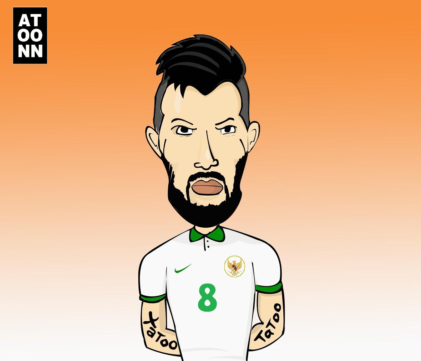 Gambar Kartun Pemain Bola Indonesia
