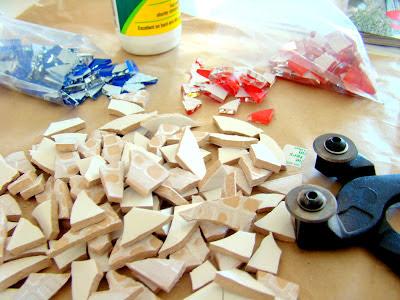 mozaik yapmak için malzemeler