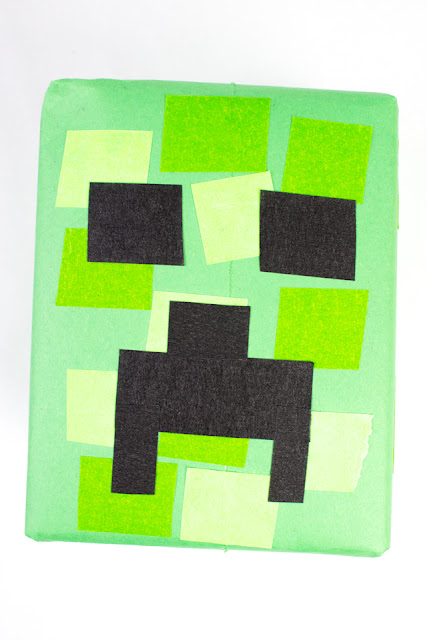 Wrap a MInecraft Birthday Gift