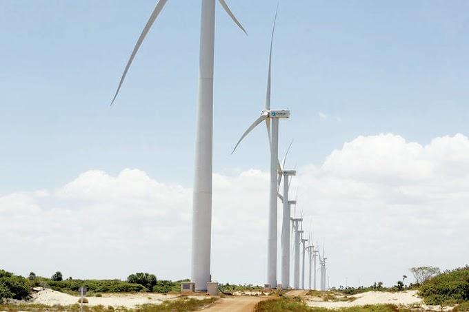 Energia eólica produzida atende metade da população do Piauí