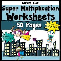 Super Multiplication Worksheets