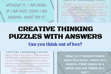 Creative Thinking Puzzles With Answers