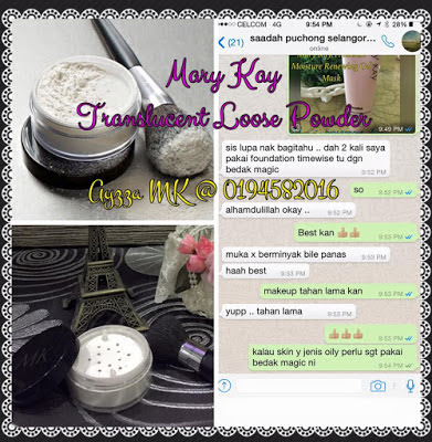 Mary Kay Liquid foundation and Translucent loose powder makeup flawless 2