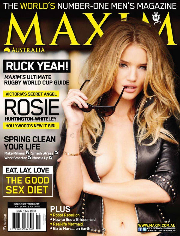 a771444be3 Rosie Huntington-Whiteley features on the cover of Maxim Australia ...
