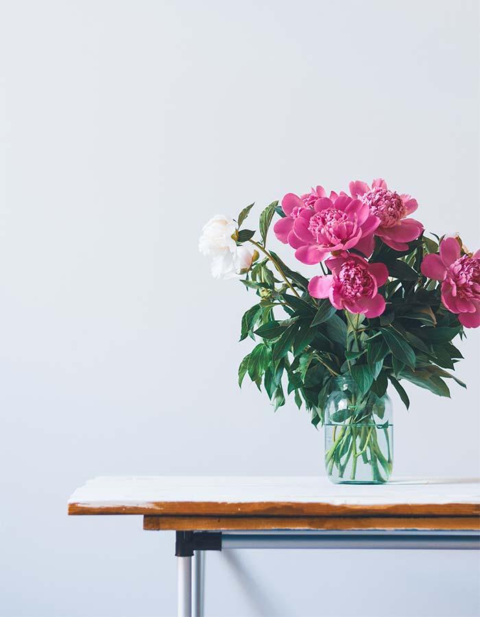 Inspiração de buquê de flores na decoração de casa ou do escritório