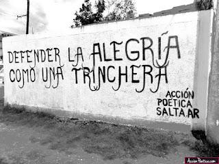 """""""Defender la alegría como una trinchera."""" Mario Benedetti - Defensa de la alegría"""