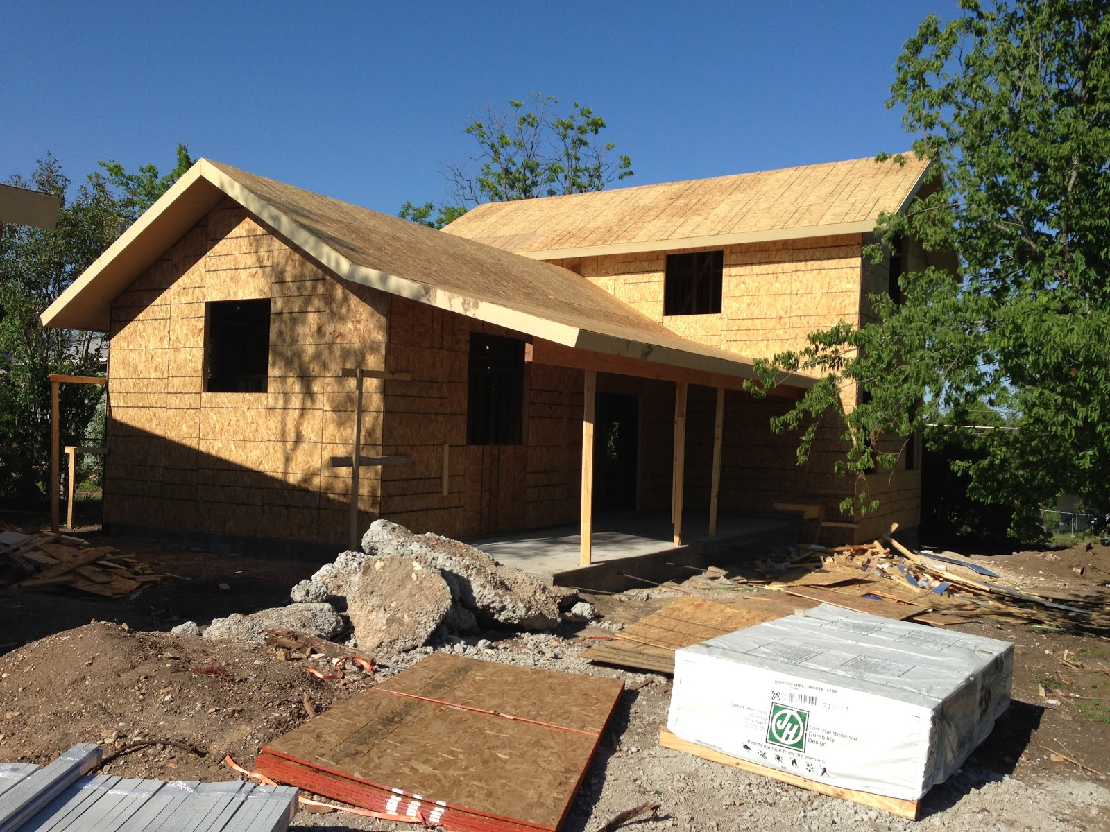 This New House: Plywood Sheathing & Exterior Colors