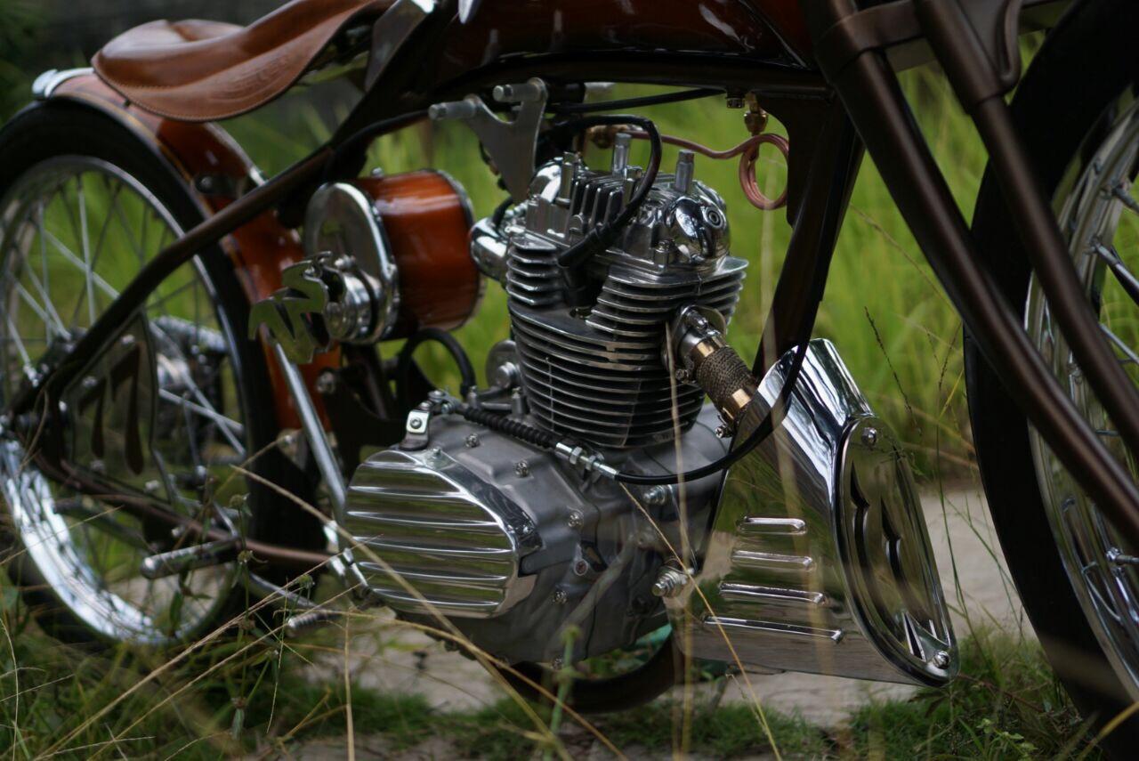 Blok mesin motor custom klasik