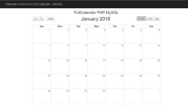 kalender event menggunakan fullcalendar dan mysql