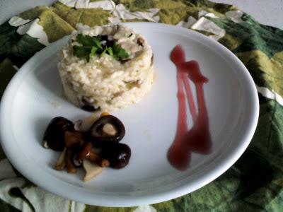 Arroz cremoso con hongos magdalena cocina y m s for Formas de preparar arroz