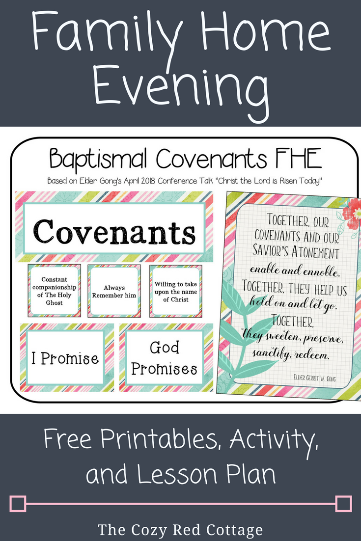 The Cozy Red Cottage: Baptismal Covenants FHE (includes Free match game)