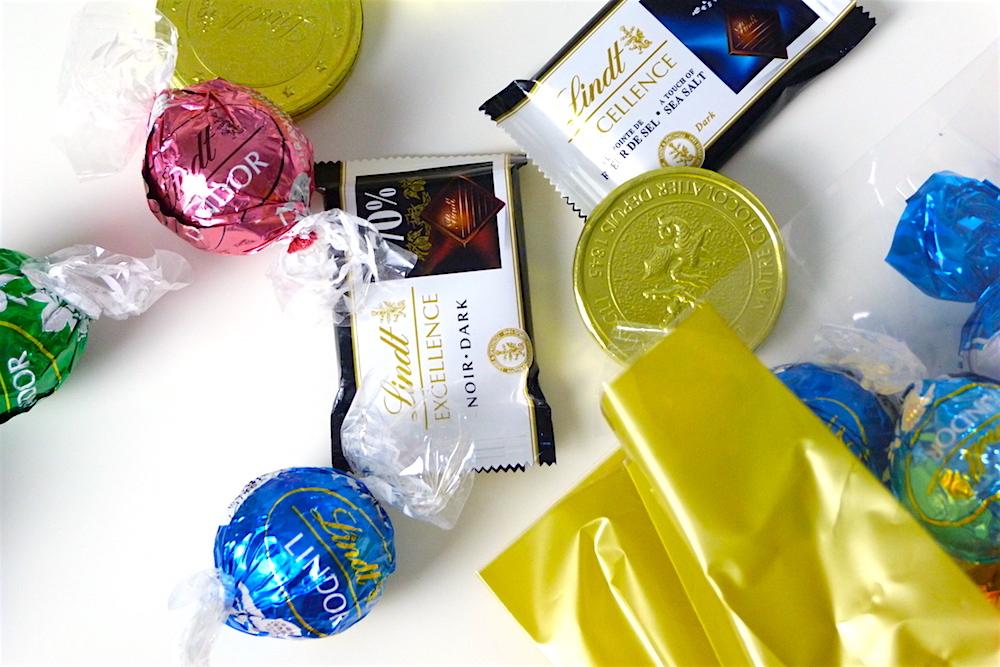 an image of Lindor and Lindt Advent Calendar Chocolate Filler Ideas