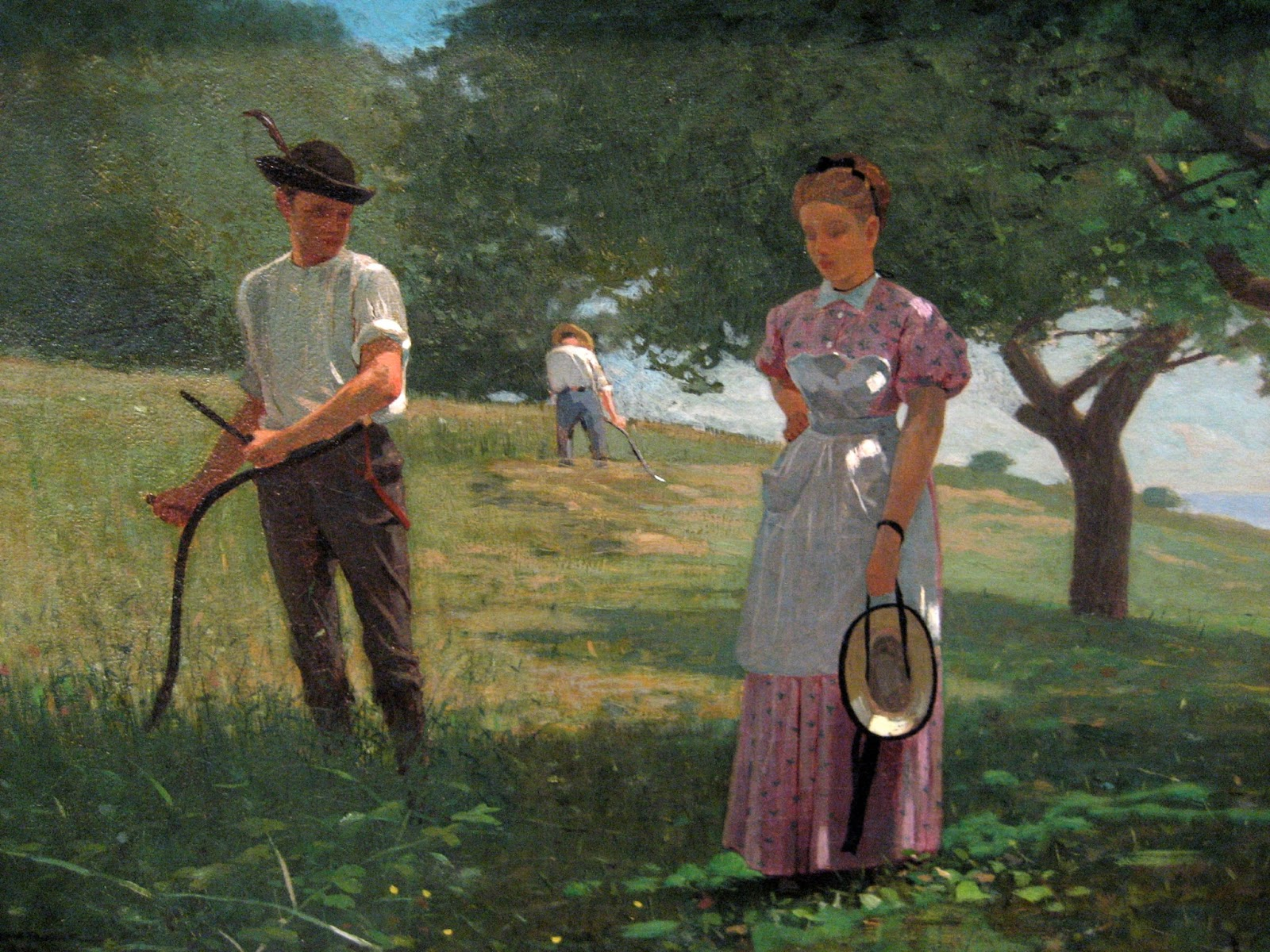 "an analysis of winslow homers painting boys in a pasture Winslow homer's painting ""boys in a pasture"" and paul the boys in a pasture can be considered to portray homer how to write a rhetorical analysis."