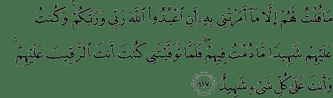 Surat Al-Maidah Ayat 117