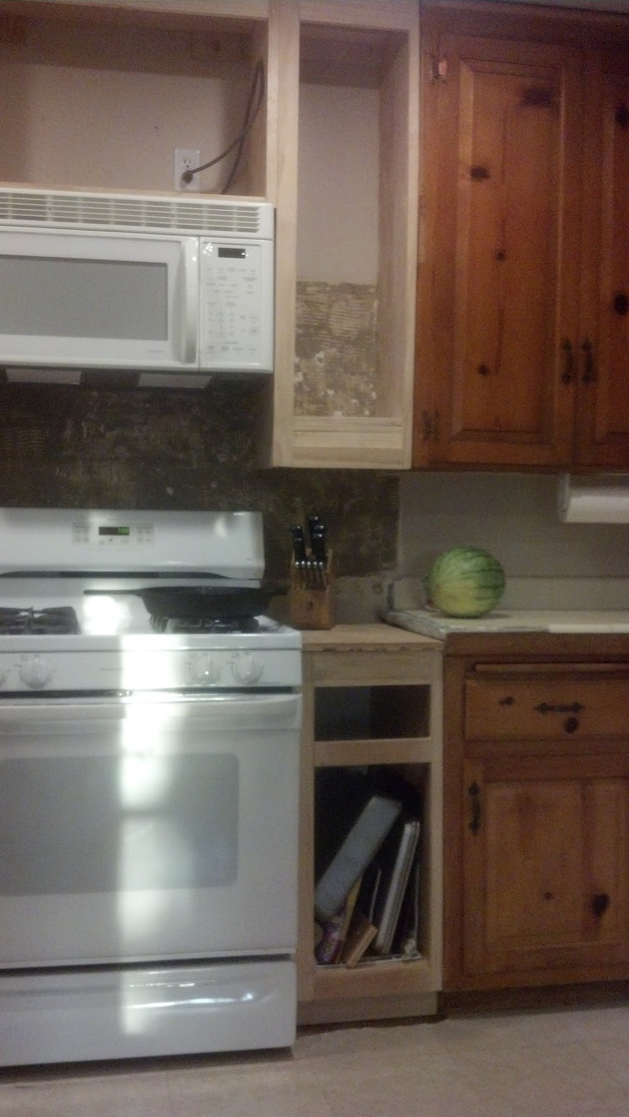 Kitchen Over Cabinet Space