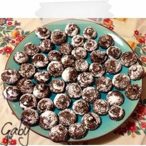Croustillants au chocolat... Simil macaron cacao...