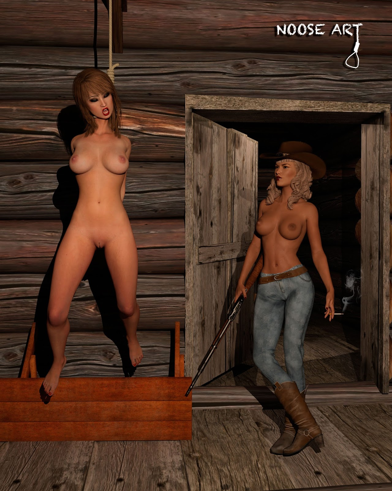 The Erotic Noose Bonnie-Jeans Ranch An Erotic Hanging -2731