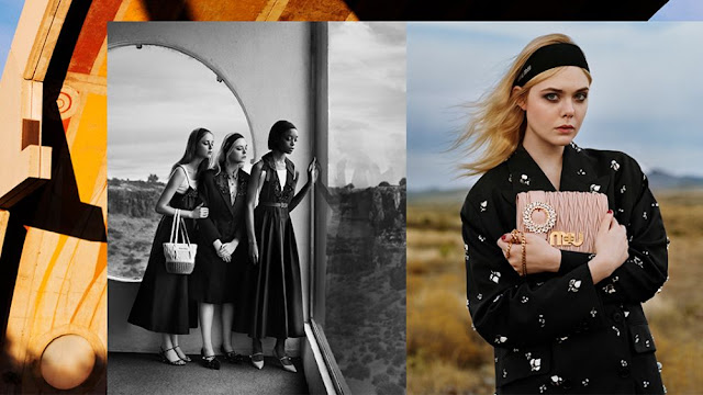 HD Photoshoot of Elle Fanning For Miu Miu Spring Summer 2018 Collection