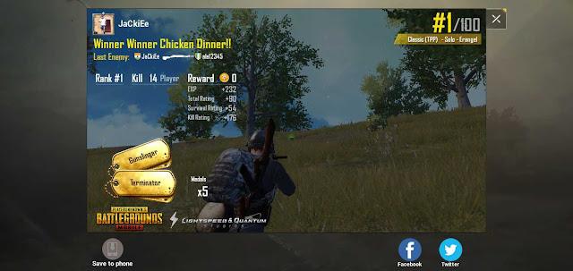 Winner winner chicken dinner Pubg mobile