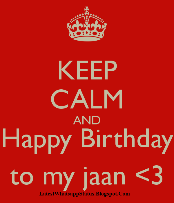 Happy Birthday My Jaan Sms In Hindi