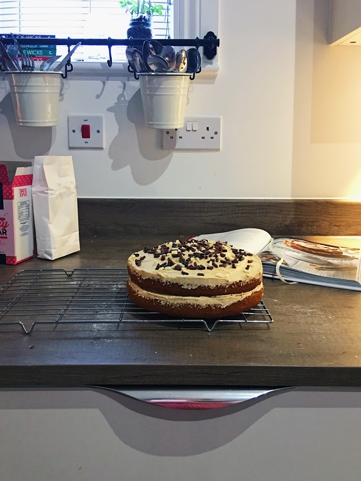 Fantastic Baking Birthday Cappuccino Cake From Tanya Bakes The Awkward Funny Birthday Cards Online Alyptdamsfinfo