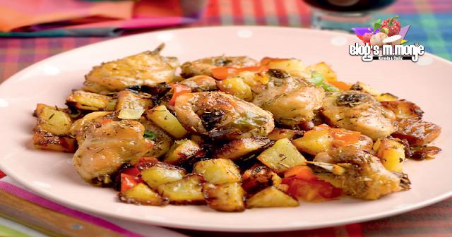 Pollo con Patatas Aromaticas