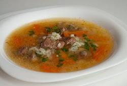 Jautienos sriuba su ryžiais ir daržovėmis