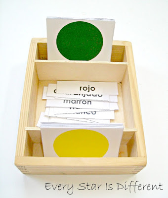 Spanish Colors Nomenclature Cards