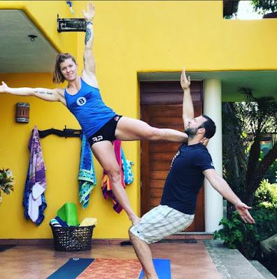 Emily Abbott practicing yoga