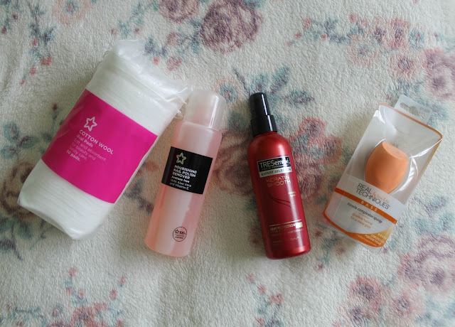 Boots, Superdrug, Garnier BB Cream, BB Cream, Una Brennan, Cleansing Oil, Vitamin C, Tresemme, Keratin Smoothg, Heat Protection Spray, Real Techniques. Miracle Complexion Sponge, Sponge, Nail Polish Remover, Cotton Wool Pads