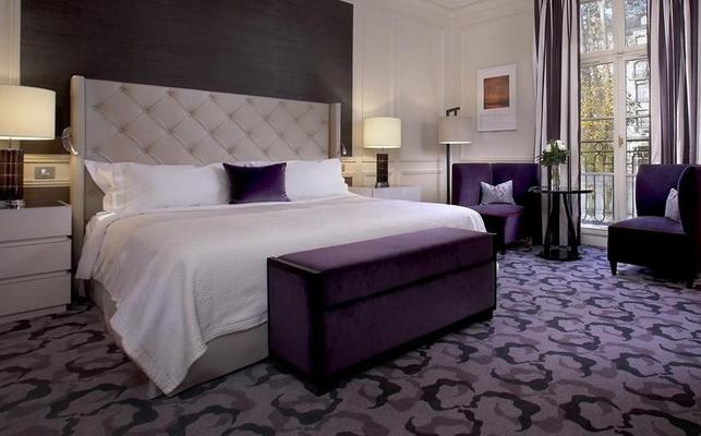 purple bedroom decor ideas with grey wall 3