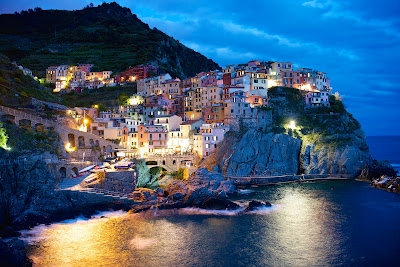 Manarola at Twilight  Cinque Terre