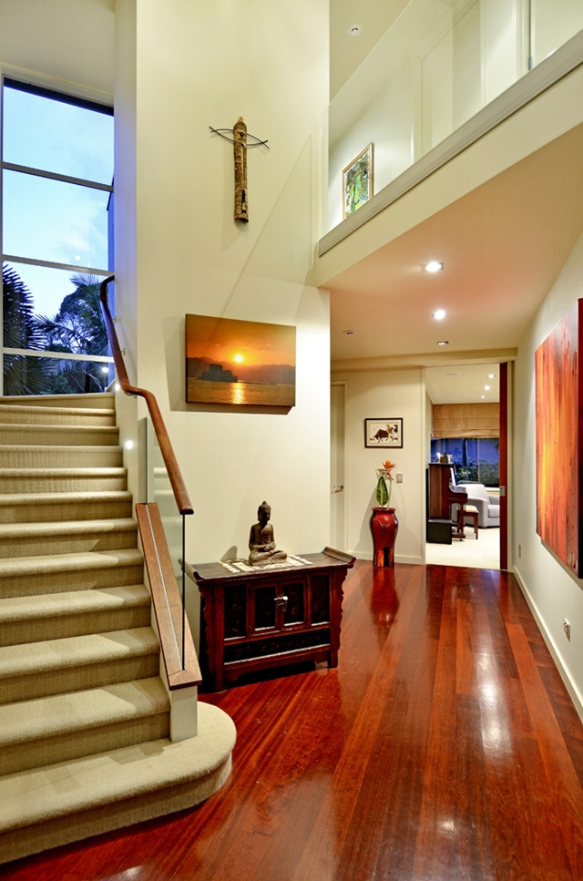 Photo of entrance hallway with staircase to the right