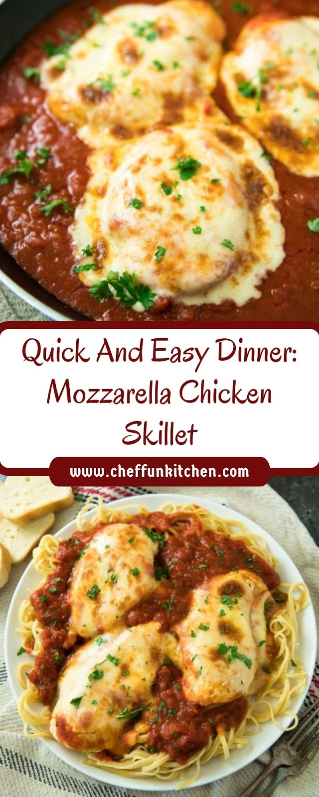 Quick And Easy Dinner: Mozzarella Chicken Skillet