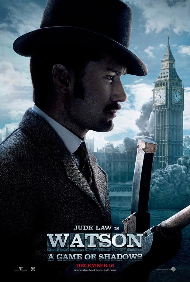 Póster con Jude Law en Sherlock Holmes: Juego de Sombras