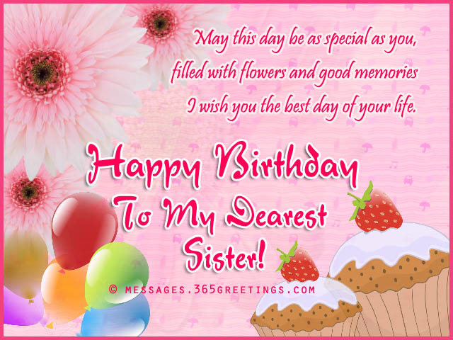 Delightful Happy Birthday Wishes For Sister With Quotes 9
